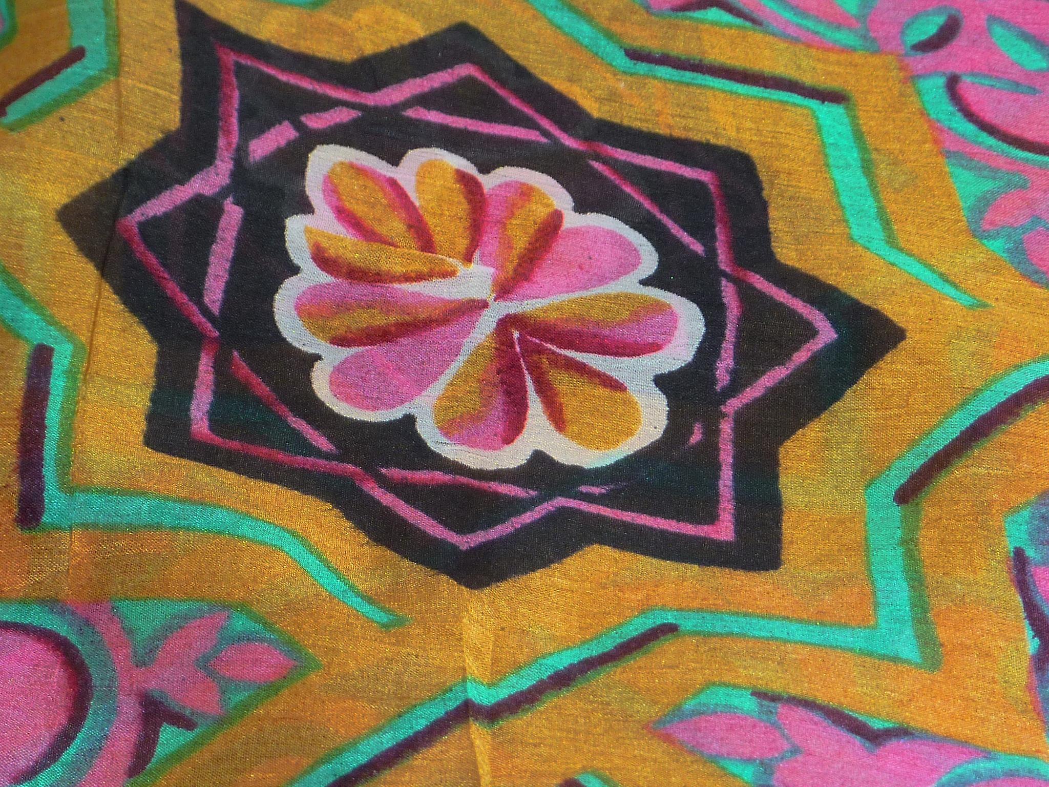 Mulberry Silk Contemporary Square Scarf Lyra Wine by Pashmina & Silk