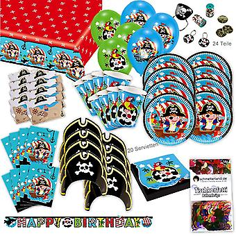 Pirates toddler party set XL 101-teilig for 8 guests pirates decoration party package
