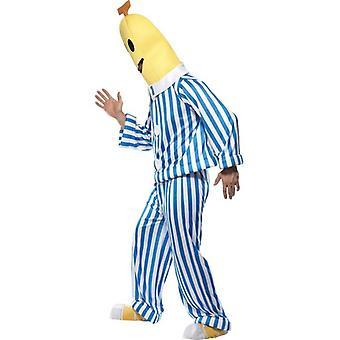 """Banaanien ja pyjamassa puku.  Rinta 38 """"-40"""", jalka Inseam 32,75 """""""