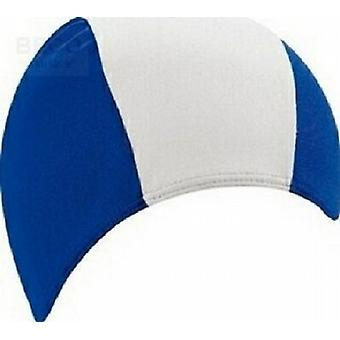 BECO 100% Polyester Fabric Adults Swim Cap-Blue/White