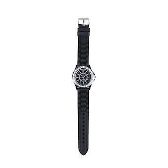 Lovemystyle Black horloge met Diamante Detail