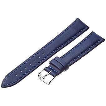 Morellato zwart lederen riem unisex blauwe Muse 18 mm A01X3935A69065CR18