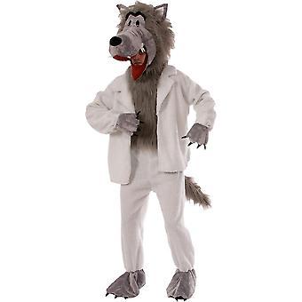 Lobo em traje adulto pijama