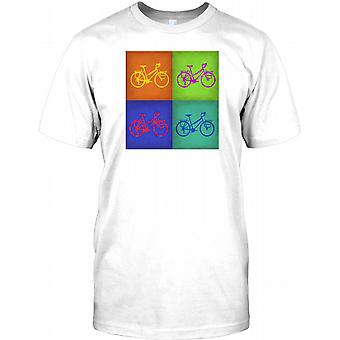 Oldtimer Fahrrad Pop-Art Design-Herren-T-Shirt