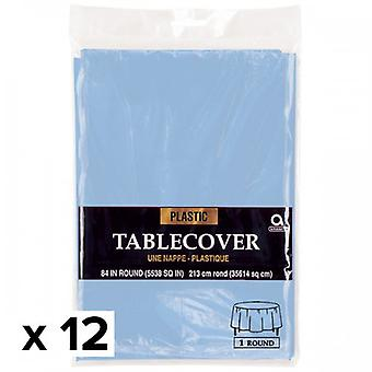 Amscan Round Plastic Tablecover (Pack Of 12)
