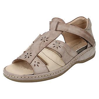 Ladies Sandpiper Sandals Carly Bark Size UK 3
