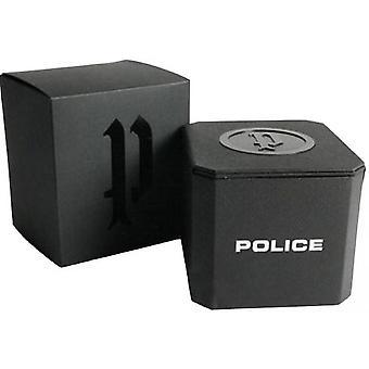 Polizeiwache PL-15922JSR-02MMB - Chronograph/Dateur schwarz Leder Armband Bo Tier Stahl Dor rosa Männer