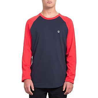 Volcom pen langærmet T-shirt i ægte rød