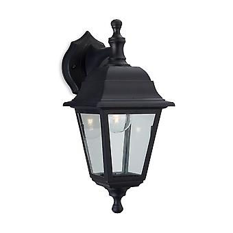 Firstlight-1 ljus utomhus vägg lykta-uplight/Downlight svart harts IP44-8346BK