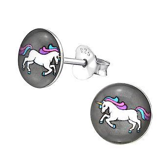 Kinderrunde Unicorn-Stud Ohrringe