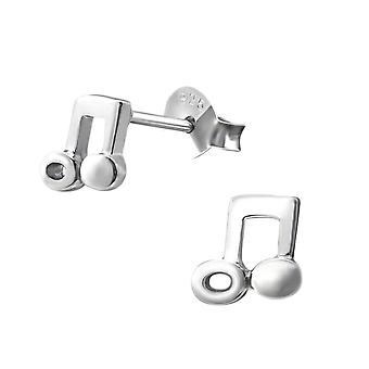 Petite Sterling Silber Musical Note Stud Ohrringe