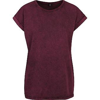 Cotton Addict Womens Acid Washed Short Sleeve T Shirt