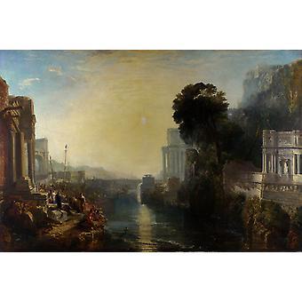Dido Building Carthage eller fremveksten av, J. M. W. Turner, 60x40cm