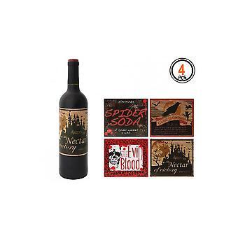 Halloween og horror vin flaske labels