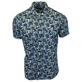 LIZARD KING Lizard King Leaf Print Short Sleeve Shirt