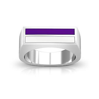 New York University Ring In Sterling Silver Design di BIXLER