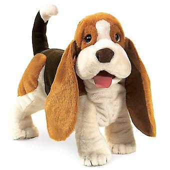 Hand Puppet - Folkmanis - Hound Basset New Animals Soft Doll Plush Toys 2919