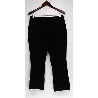 G.I.L.I. l'a eu l'amour il pantalon Flare Cropped Leg Ponte Knit Black A293329