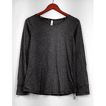 Gilligan & O'Malley Top Basic Long Sleeve Tee Shirt Gray Womens