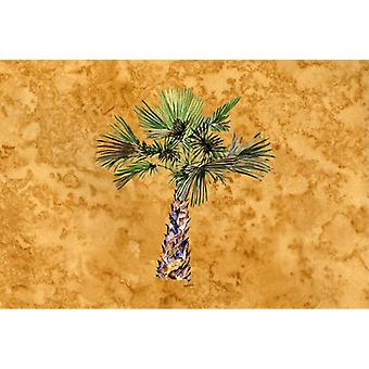 Carolines Treasures  8706PLMT Palm Tree on Gold Fabric Placemat