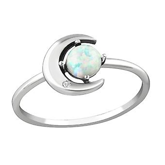 Moon - 925 Sterling Silver Jewelled Rings - W36873X