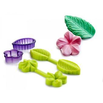 Ibili Mold 3D Flower + Liść + Kuter (Kuchnia, Piekarnia , Naczynia kuchenne, Naczynia , Zestawy)