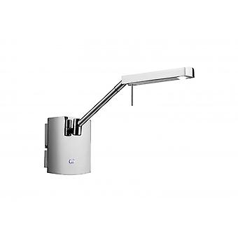 Mantra Phuket Wall Lamp 1 Light 7W LED 3000K, 600Lm, Polished Chrome, 3Yrs Warranty