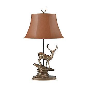 Cold-cast bronze roosevelt elk table lamp stein world