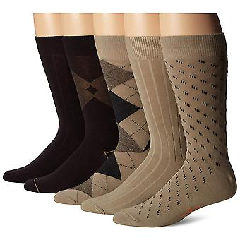 Dockers Men-apos;s 5-Pack Classic Argyle Asst. Pattern, Khaki Assorted, Taille 6.0