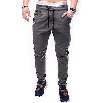 Pantalon décontracté Allthemen Men-apos;s Cotton Slim Spliced Adjustable Waist Casual