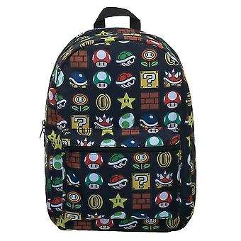 Super Mario Bros. Icons AOP Sublimated Laptop Backpack