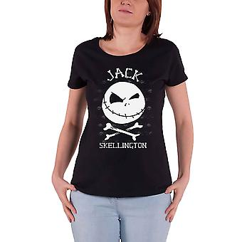 The Nightmare Before Christmas T Shirt Jack Face new Official Womens Skinny Fit