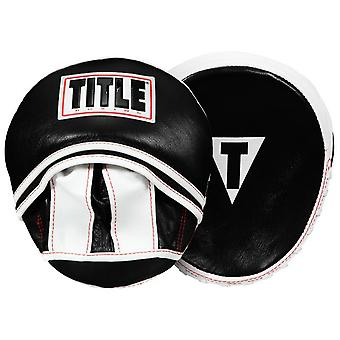 Title Boxing Leather Eclipse Micro Mitts - Black/White