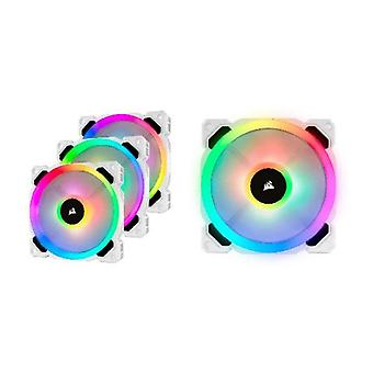 Corsair Light Loop Series Blanco Ll120 Rgb 120Mm Pwm Fan 3 Fan Pack