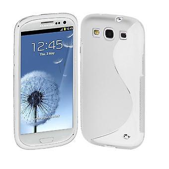 Samsung Galaxy S3 TPU Shell-transparent + skjermbeskyttelse