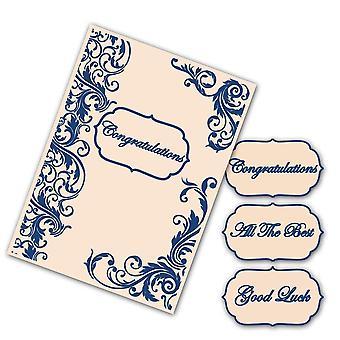 Tattered Lace Embossing Folder 4pc C6 Set - Interchangeable Flourish Border