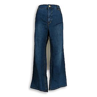Isaac Mizrahi Live! Women's Petite Jeans TRUE DENIM Boot Cut Blue A280777