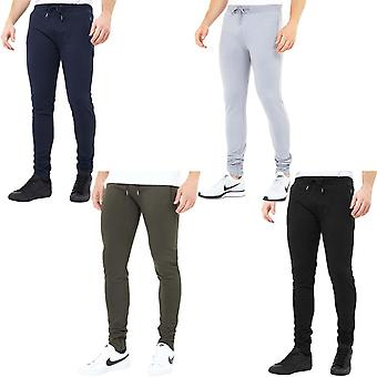 Brave Soul Mens Skinny Casual Tapered Slim Fit Jogging Bottom Joggers Trousers