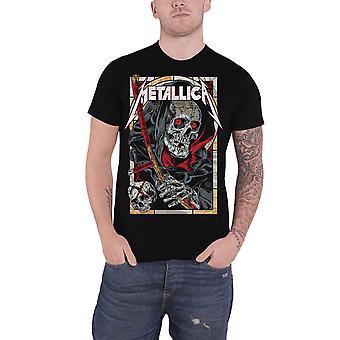 Novo logotipo de banda Metallica T camisa morte Reaper oficial Mens Black