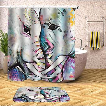 Elephants Art Shower Curtain