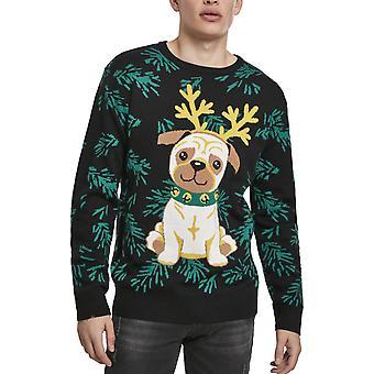 Kaupunkien klassikoita-Pug Christmas RUMA pusero pusero musta