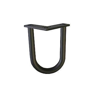 Musta hius neula pöytä jalka 15 cm