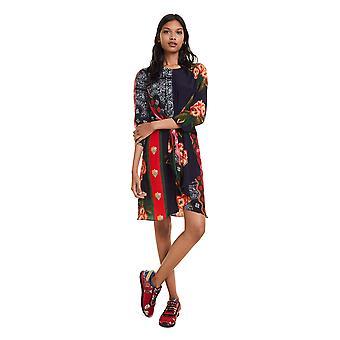 Desigual kvinnor ' s dana Hourglass Shape mönstrad klänning