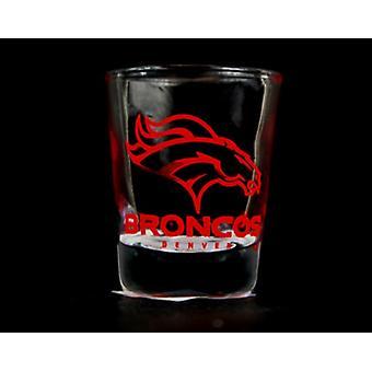 Denver Broncos NFL runda shot de sticlă