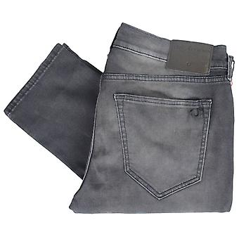 True Religion Rocco Relaxed Skinny Stretch Faded Dark Grey Jeans