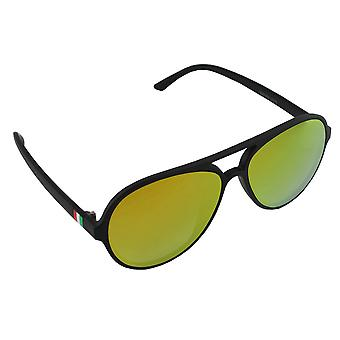 Zonnebril UV 400 Aviator Zwart Geel Reflecterend 2735_22735_2