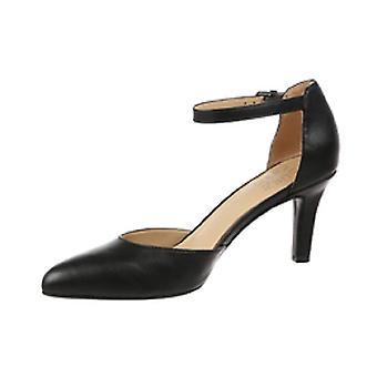Naturalizador mujer cuero puntiagudo punta tobillo correa sandalias