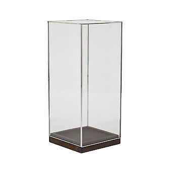 Licht & Leben Hurrikan 20x20x45cm - Askjer Holz braun und Nickel und Glas