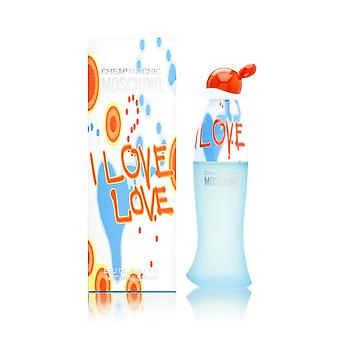 Rakastan rakkautta halpa ja tyylikäs Moschino naisille 3,4 oz Eau de Toilette Spray