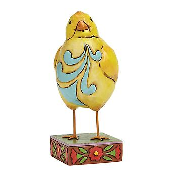 Jim Shore Heartwood Creek Feather Your Nest Small Lazy Chick Figurine